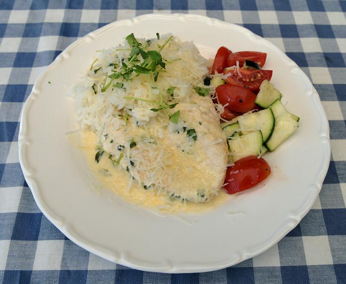 Kycklingfilé med timjan och parmesan