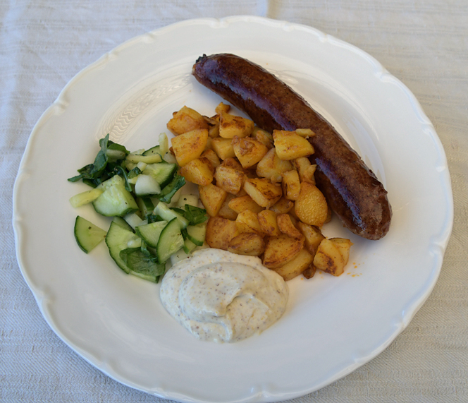 Isterband med stekt potatis