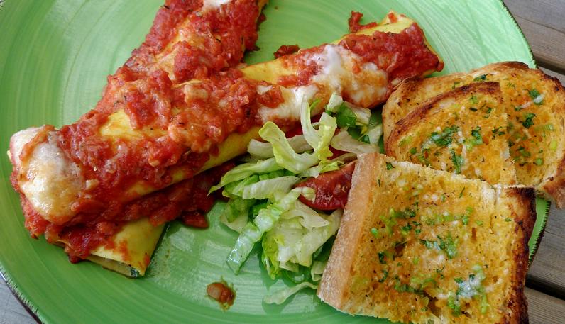 Cannelloni med ricotta och spenat